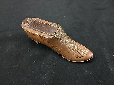 Antique Shoe Form Snuff with unusual  carving and fine detail.