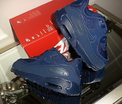 NIKE AIR MAX 90 (TD) Toddler / Infant Trainers Size UK 6.5 EU 23.5 MIDNIGHT NAVY