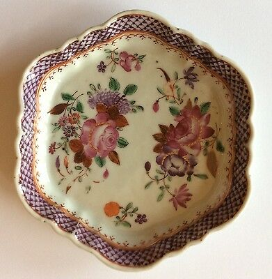 Canton Antique Famille Rose Chinese Dish Teapot Stand