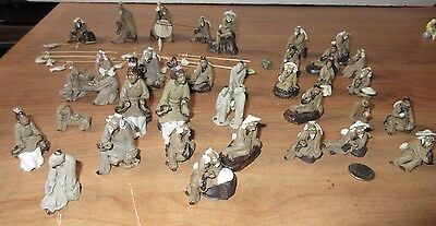 Lot of Vintage Chinese Mud Men Figurines 45+ pieces