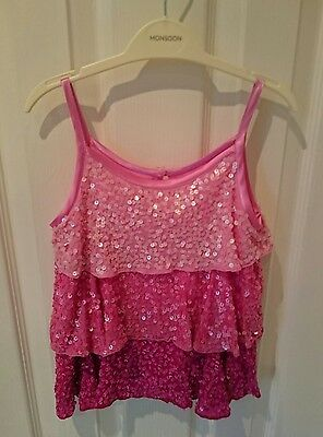 Monsoon Brand Girls 6-8 years Pink Top with Sequins