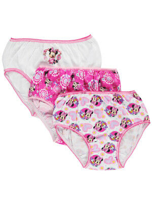 "Minnie Mouse Little Girls' ""Bow Adjusted"" 3-Pack Panties (Sizes 4 - 6X)"