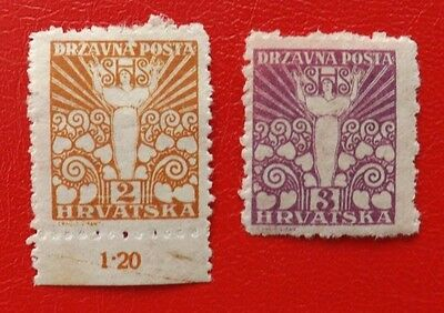 1919 Yugoslavia, mounted mint stamps x 2