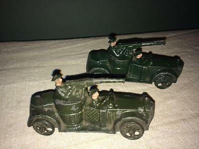 BRITAINS # 27d ARMOURED CARS X 2