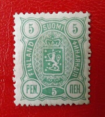 1889 Finland,  Coat of Arms Mounted Mint 5p