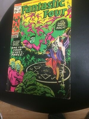 FANTASTIC FOUR # 110 (rare Green And Pink Error Printing One MAY 1971) VG