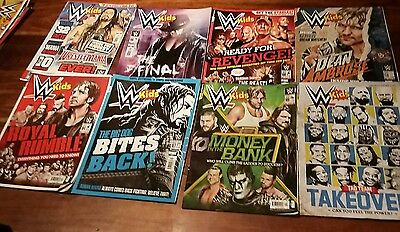 WWE Kids magazine x 8 issues 2016