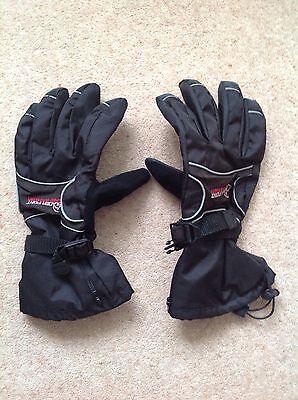 Mens ski gloves. Glacier Point. Black in size small/medium