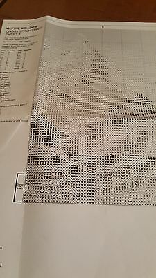 Alpine Meadow counted cross stitch chart ONLY (Heritage crafts) mountain & cow