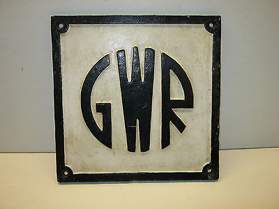 Gwr Cast Plate - Very Good Overall Condition