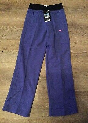 *sale**girls New With Tags Purple Nike Tracksuit Bottoms Joggers Age 10-12 Years