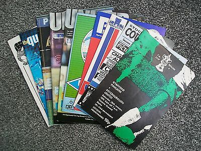 10 League V Non-League Programmes From 1975-99 In Very Good Condition