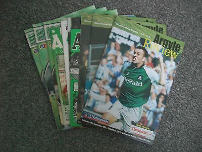 10 Plymouth Argyle Home Programmes From 1983-2000 In Excellent Condition