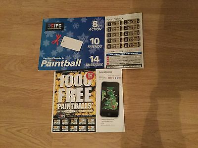 Ipg Paint Balling Tickets + 1000 Free Paint Balls