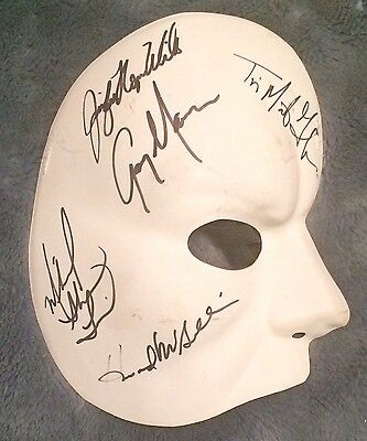 Rare- Phantom Of The Opera Record Breaking Performance Broadway Cast Signed Mask
