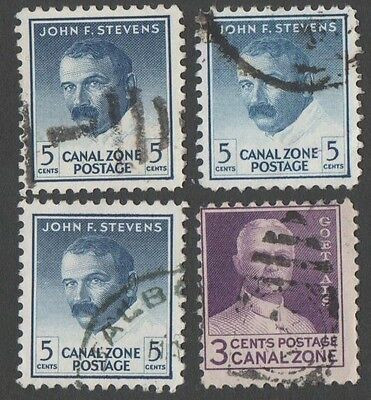 Panama. Canal Zone. 1946 -1977 Portraits. Cancelled