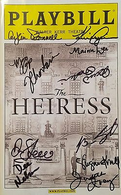 The Heiress Broadway Cast Signed Opening Night Playbill