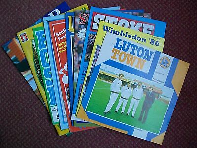 10 Brighton & Hove Albion Away Programmes From 1979-2003 In Very Good Condition