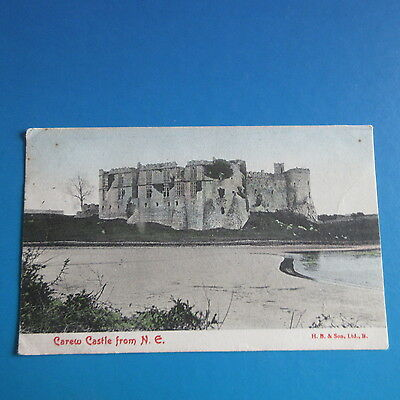 Old Postcard of Carew Castle from N. E.