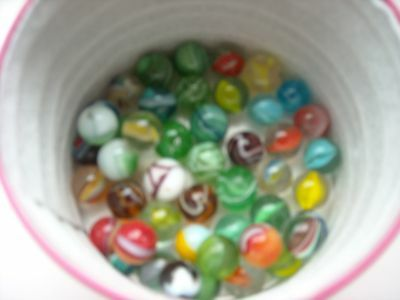 Vintage Glass Marbles - Job Lot Of 45