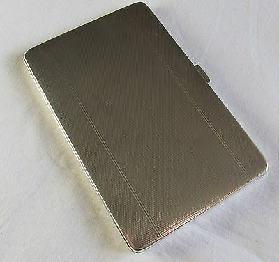 Engine Turned Silver Cigarette Case - Birmingham 1932 - Adie Brothers