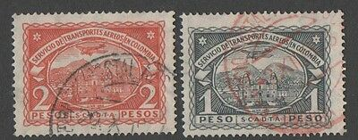 Colombia. Air stamps. Cancelled