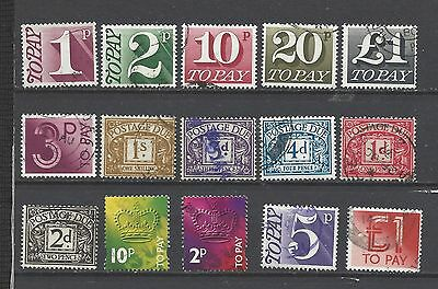 British stamps collection postage due stamps old &new styles GB