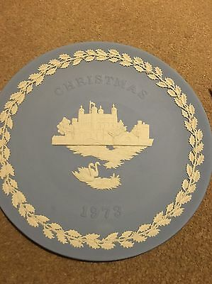 Wedgwood Blue Jasperware Christmas Plate 1973