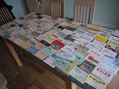 Rare Collection 124 Amateur Vintage Radio Ham  Qsl Cards China Asia Middle East