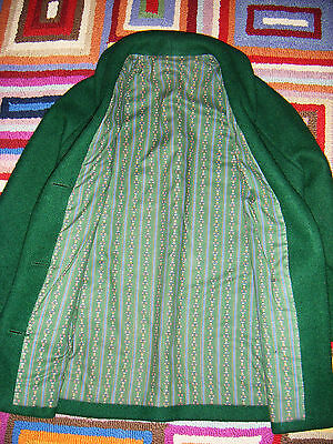 Vintage Handmade Boiled Wool Green Jacket size Small