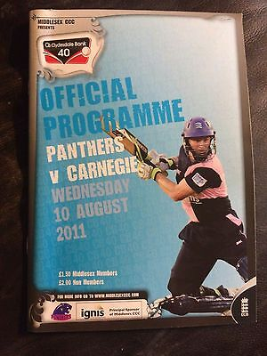 MIDDLESEX PANTHERS CCC v YORKSHIRE CARNEGIE CCC 2011 CLYDESDALE BANK 40