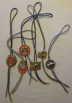 Fraternal Order Shriner's Loyal Order Moose Bolo Ties Lot of 6 All Different