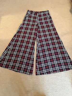 Vintage 1970's Collectif Tartan Flared Trousers Size 12-14
