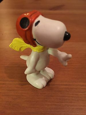 Snoopy Peanuts Rubber Cool Joe Pilot Collectable Rare Vintage Classic