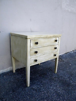 Small Antique Washed Painted Mahogany Side Table / Nightstand 0011