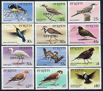 s623373 St Kitts Official Stamps Sc#O11-22 MNH