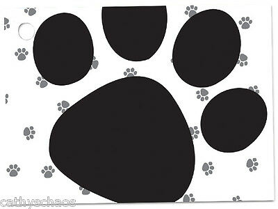 "168 Pooch's Paws Black Animal Cat Dog Paw Prints Theme 3-3/4x2-3/4"" Gift Cards"