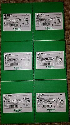 LC1D 09, 12, 18 P7 schneider 230v ac contactors 2 of each brand new & unopened