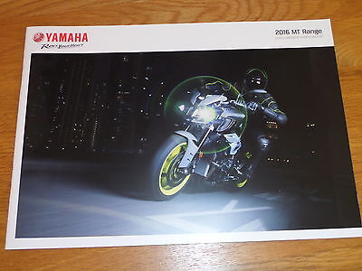 Yamaha MT Range Motorcycle Sales Brochure 2016