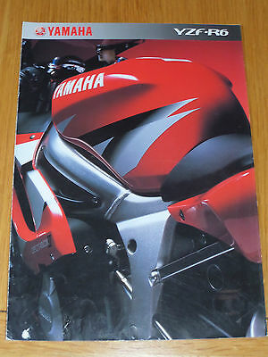 Yamaha YZF-R6 Motorcycle Sales Brochure 2002