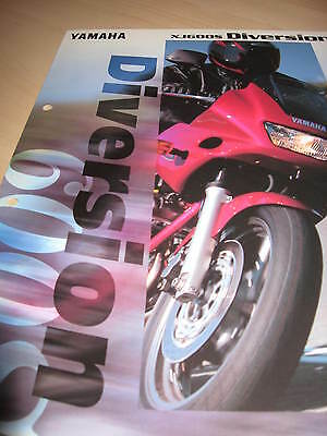 Yamaha XJ600S Diversion Motorcycle Sales Brochure 1998