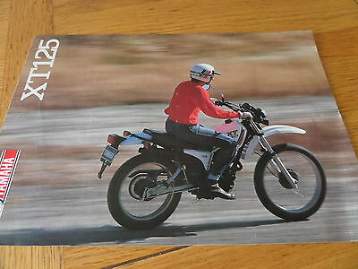 Yamaha XT125 Motorcycle Sales Brochure 1982