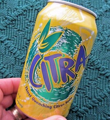 1996 ~ CITRA by Coca-Cola / Coke ~ Aluminum Can Pull Tab Style ~ Citrus Soda