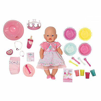 New BABY Born Interactive Happy Birthday Doll feed Lifelike Pink Ballet Vintage