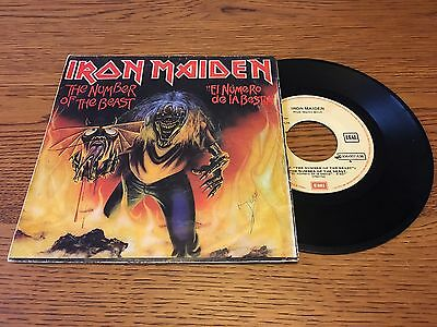 "Iron Maiden: The Number Of The Beast Spanish / SPAIN 7"" Vinyl Single Record"