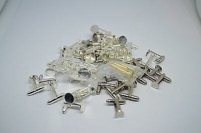Job lot of various cufflink backs of various colours and sizes #4