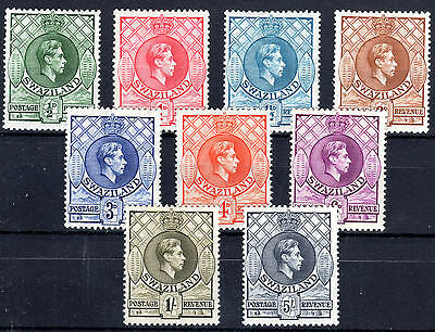 Swaziland 1938-54 lot to 5/- Cat £74+ [side perf P14] Mounted mint