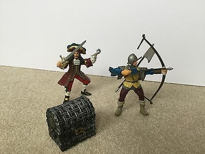 Papo Bundle Captain Hook Archer Treasure Chest Filled With Gold