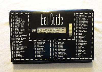 VintageTabletop Black Plastic Glenn Shaw BAR GUIDE 80 Recipes Turning Wheel