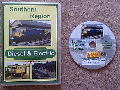 British Railways Southern Region Diesel and Electric DVD by Transport Video Pub.